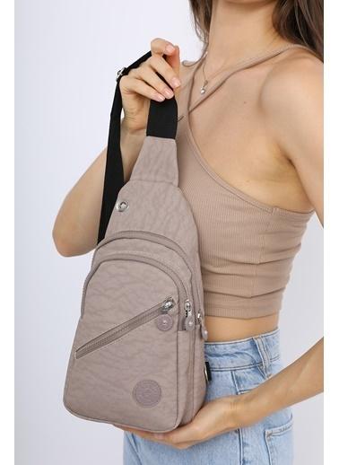 Madamra Çok Bölmeli Body Bag Vizon